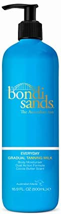 Bondi Sands Everyday Gradual Tanning Milk | Daily Body Lotion Builds a Natural Glow in 1-3 Applications, Enriched with Vitamin E & Aloe Vera, Vegan + Cruelty Free, Cocoa Butter Scent | 375 mL/13.2 Oz