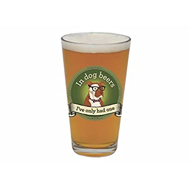 Barstool Philosopher 20-Ounce Pint Glass, In Dog Beers