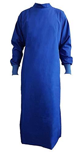 Grevotex OP-Mantel OP-Kittel OP-Bekleidung OP-Kleidung blau/grün (L, blau)