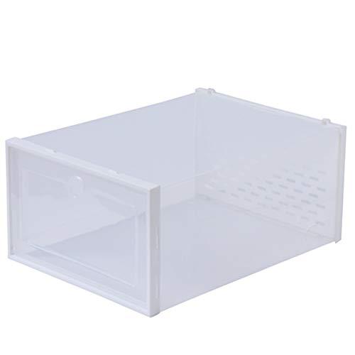 Zapatero, Unidades organizadoras de Almacenamiento de Cubos de plástico, gabinete de Armario Modular con Puertas para Bricolaje, Incluye Dispositivo antivuelco(12 Piezas),Clear