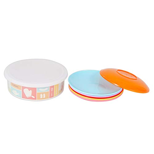 CLISPEED Plastic Platen Set Van 6 Fruitschaal Draagbare Outdoor Picknick Camping Schotel Onbreekbaar Microwavable…