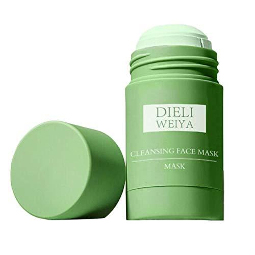 1 pieza de té verde, mascarilla facial en barra sólida, exfoliante, té verde, mascarilla sólida, crema facial y para ojos para limpieza profunda, control de aceite, todo tipo de piel