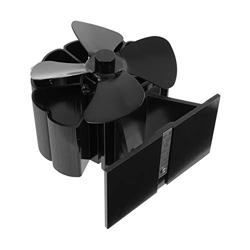 PFDJ2 Kamin Holzofen oder Pelletofen effektiv Dispergierwerkzeuge Warmluft um Raum 4-Blatt Elektroherd Ventilator S12.4