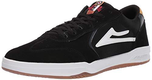 Lakai Limited Footwear Mens Atlantic Skate Shoe Black/Yellow Suede 14 M US