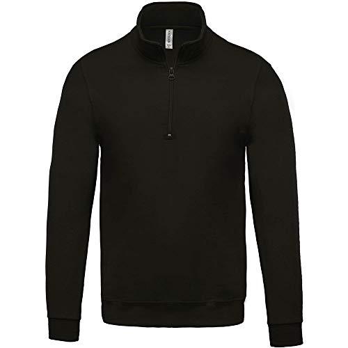 Kariban Sweat-Shirt col zippé - Blanc, XL, Unisexe