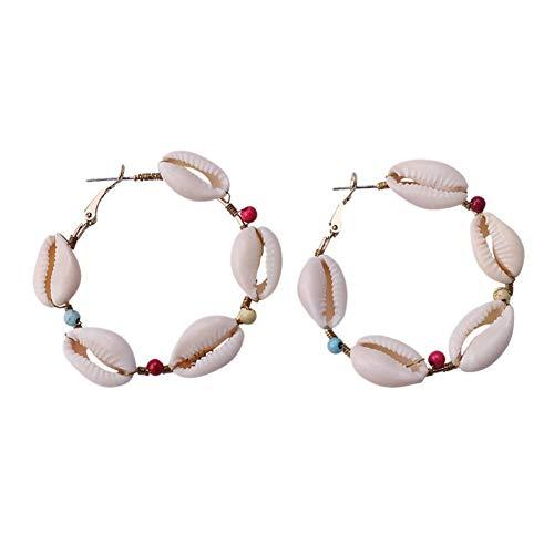Jingyuu Boucles d'oreilles en coquillages sensuelles et légères et non faciles à décolorer, pour Noël, fête de Noël, léger et non facile à décoller – 5,5 cm