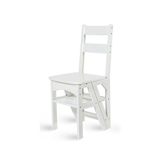 WSGZH Amerikanischer Faltender Treppenstuhl, Alles Feste Holz, Vielzweckdoppelzweck-Schemel-hoher Leiter-Stuhl, 2 Farbe Wahlweise Freigestellt, Höhe 90cm (Farbe : B)