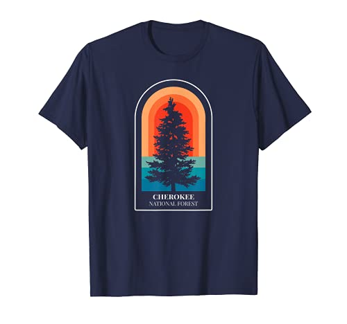 Retro Cherokee National Forest Tennessee Hiking T-Shirt