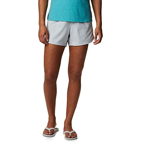 Columbia Pantalones Cortos Deportivos extendidos Tamiami para Mujer, Pantalones Cortos de Atletismo, 1832082, Cirrus Gris, 3xx5