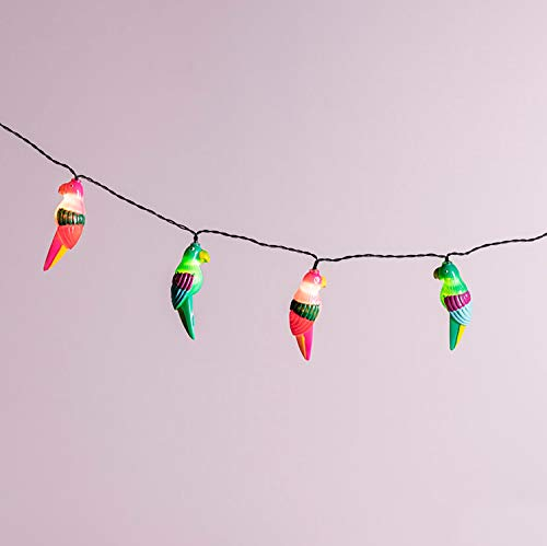 Lights4fun, Inc. 10 Multicolor Parrot Battery Operated Indoor & Outdoor LED Party String Lights