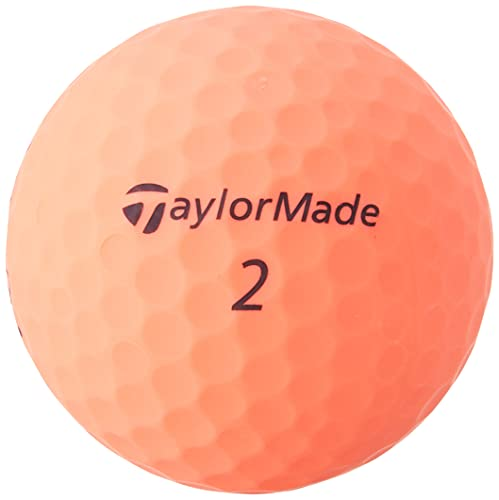 TaylorMade Kalea Golf Balls, Peach (One Dozen) , Large