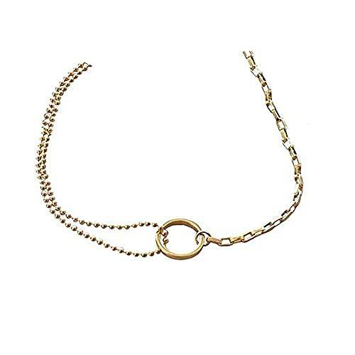 Collar Collar asimétrico Personalidad Collar de nicho de doble capa Cadena de clavícula Mujer
