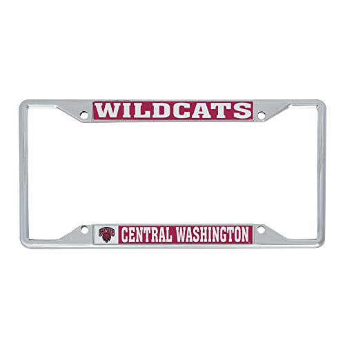 Desert Cactus Central Washington University CWU Wildcats NCAA Metal License Plate Frame for Front or Back of Car Officially Licensed (Mascot)