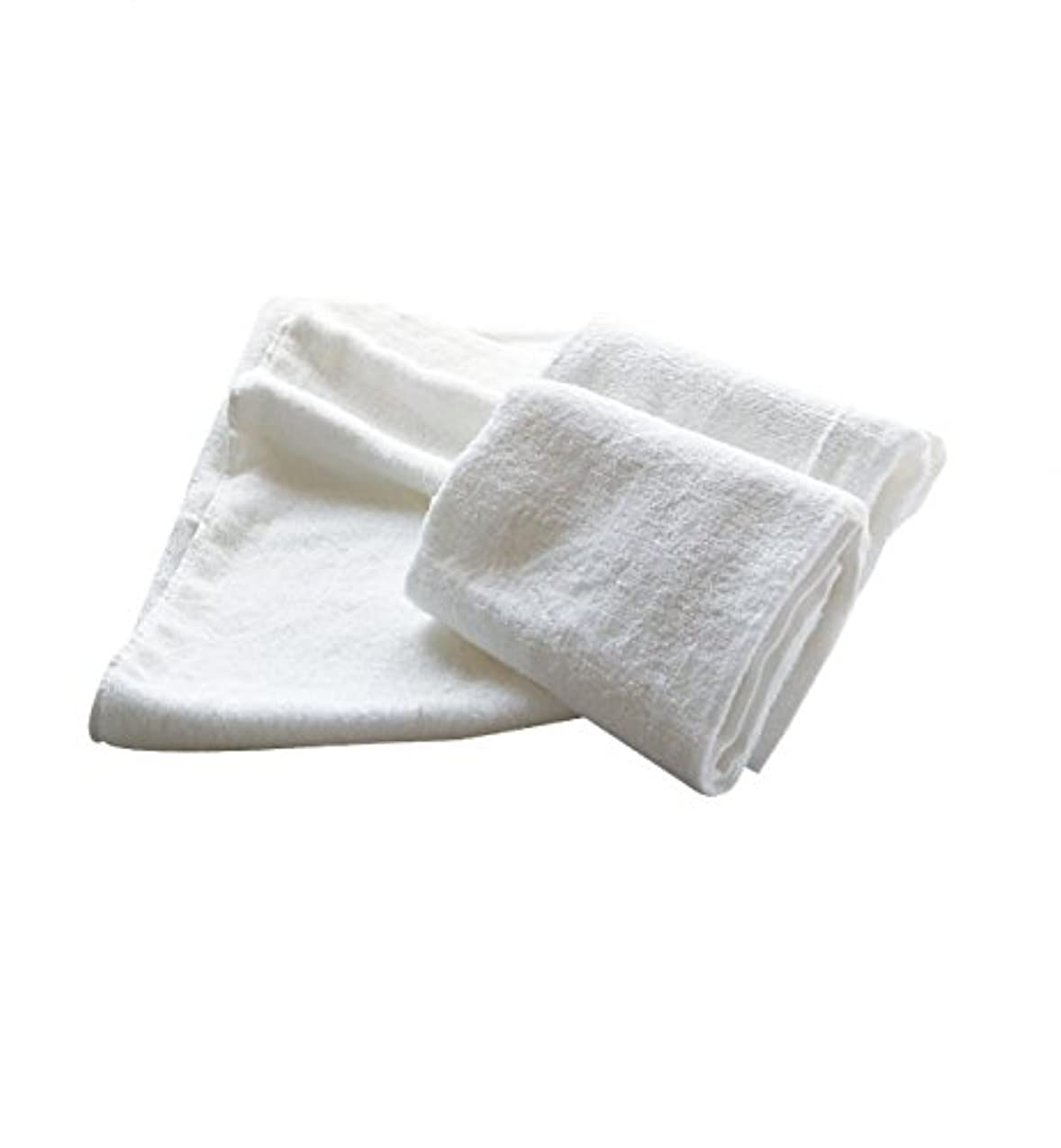 ご注意隣接のれんまとめ売り やわらか バンブー 竹繊維 タオルケット (ソフトホワイト 5枚) 140×230cm 竹タオル 業務用タオル