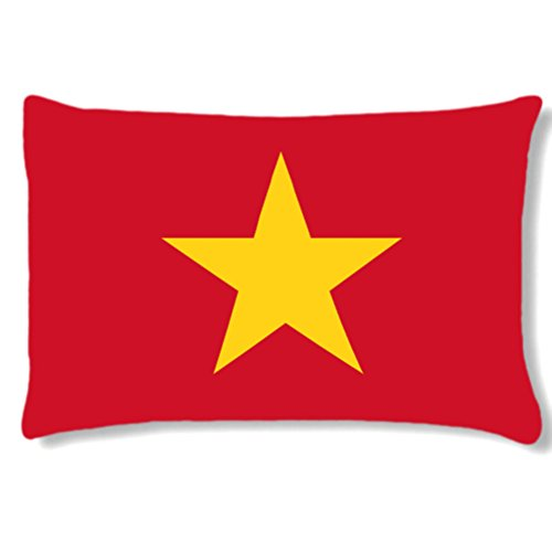 Grand coussin rectangulaire Vietnam by Cbkreation