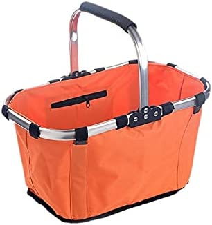 Super special price XUXUWA WH Picnic Louisville-Jefferson County Mall Basket Fold Handheld Outdoor Supermarket