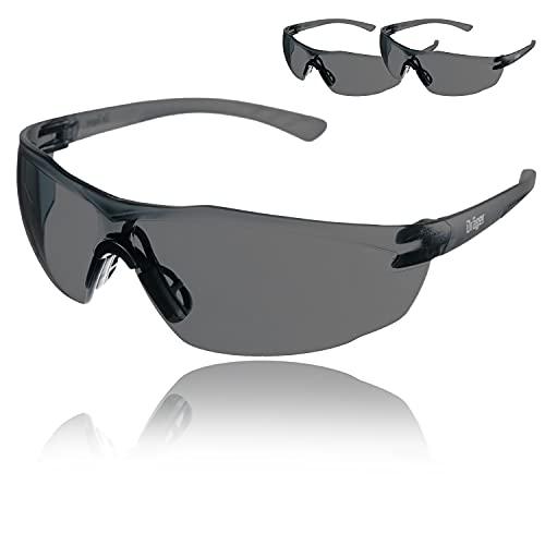Dräger X-pect 8321 Gafas de Seguridad | Lentes de protección Rayos UV antivaho| Ultraligeras para un Uso intensivo | para Industria, Deporte, Laboratorio | 3 Gafas