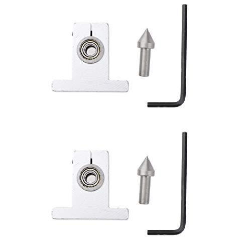 2 Pack Thimble Drill Bit Live Center Reitstock Zentrum für Mini Drechselbank, inkl, Schlüssel