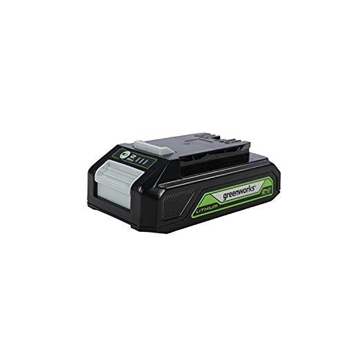Greenworks Tools Batería de ion de litio de 24 V y 2,0 Ah, batería recargable de alto rendimiento con indicador LED Adecuado para todas las series Greenworks Tools de 24 V.