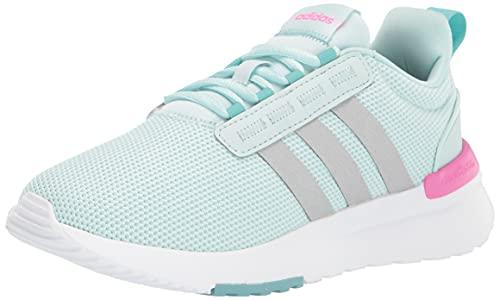 adidas Kids Racer TR21 Running Shoe, Halo Mint/Silver Metallic/Screaming Pink, 8 US Unisex Toddler