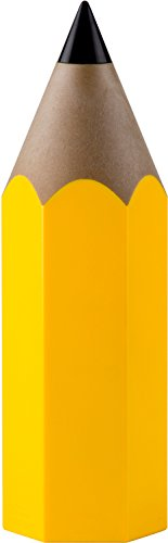 QUALY Pot à Crayon Jaune, Taille Unique