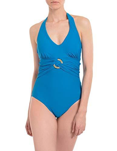 Spanx 2370 Neckholder Einteiler Badeanzug - Blau - 38