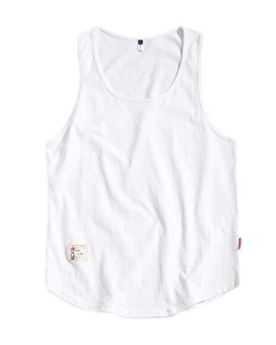 Herren Lose Freizeit Ärmelloses Oberteil Atmungsaktiv Muscle Shirt Tank Top Groß Fitness Weste Weiß 4XL