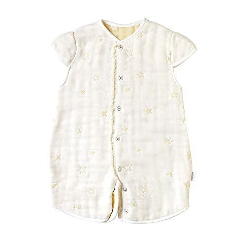 [10mois(ディモワ)] ふくふくガーゼ(6重ガーゼ) 2wayベビースリーパー 袖付き コットン100% エクリュ 着丈58cm 新生児~3歳頃まで