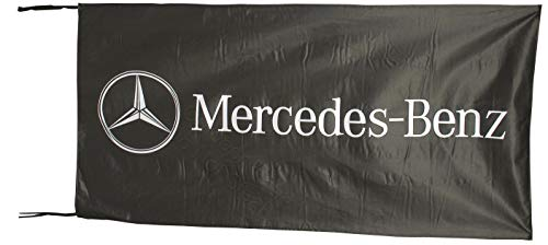 Cyn Flags Mercedes Benz SCHWARZ Fahne Flagge 2.5x5 ft 150 x 75 cm
