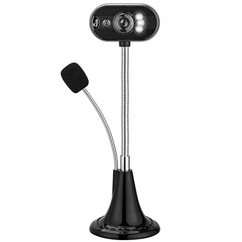 Tonquu HD Computer Camera met Microfoon, Manual Focusing LED Night Vision USB Camera IP Camera voor Vedio Calling, Conferentie, Live Streaming en Opnemen, Geweldig voor Home Office