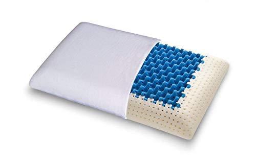 Cojín Blue2air de espuma MyMemory termo-sensible altamente transpirable–100% Fabricado en Italia–Funda de algodón natural