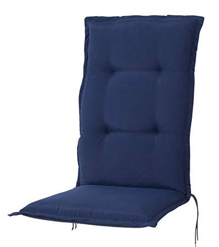 Kettler Polen KETTtex 2148 Auflage Hochlehner Florence dunkelblau Sitzpolster 120x50x8 cm