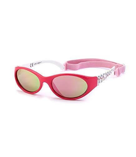 Kiddus Sonnenbrille Kids Comfort Junge und Mädchen. Alter 2 bis 6 Jahre. Total Flexible Modell für Extra Komfort. Mit Band und sehr Resistent. 100% UV-Schutz. Nützliches Geschenk (Einhorn fuchsia)