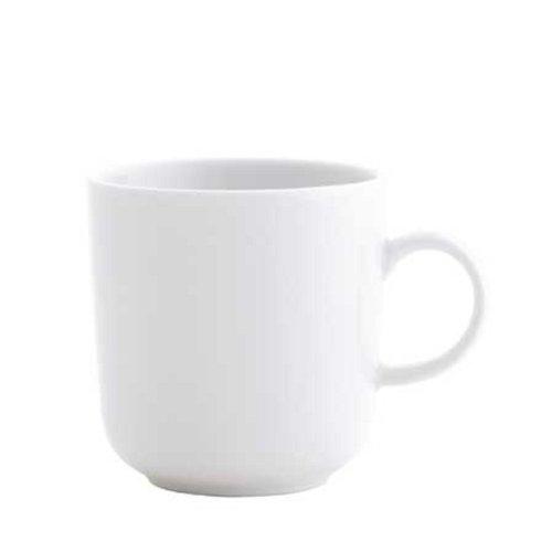 Kahla Pronto Tasse, polierter und glasierter Rand, 290 ml, Weiß, 1 Stück