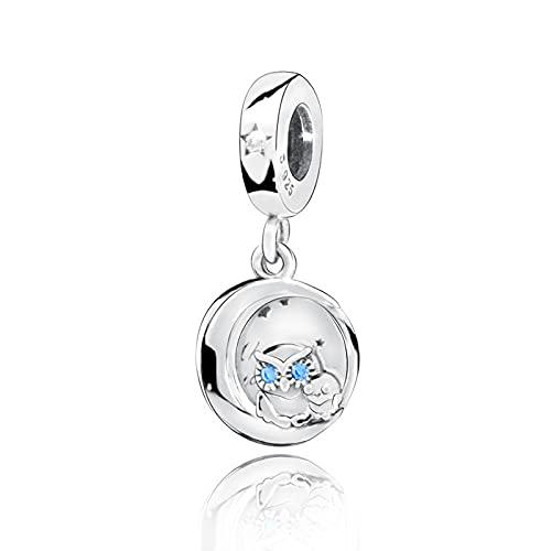 Pandora 925 colgante de plata esterlina Diy nuevo siempre a tu lado búho colgante abalorios se ajustan a pulseras originales joyería de mujer