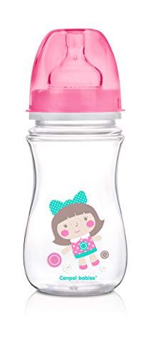 Canpol Babies CB35221R - Biberón anticólicos boca ancha
