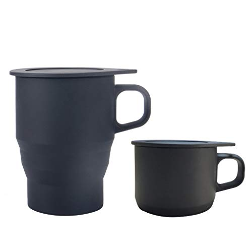 Fine Outdoor Folding Silicone Telescopic Travel Cup, Thicken Silicone Portable Coffee Cup Travel...