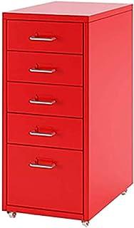 Classeurs Mobile File Cabinet 5 tiroirs Amovible Remplissage métal Table de Chevet Bureau des Documents du Cabinet Armoire...