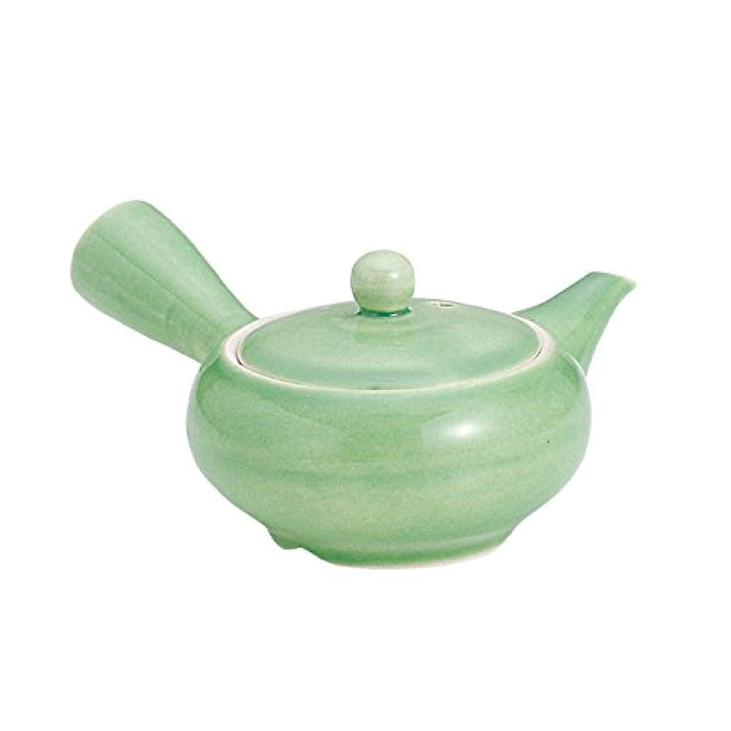 Tokyo Matcha Selection - [VALUE Mini Kyusu : 3 Color (60cc) Parallel Steel Mesh Type - Japanese Tea Pot (Green) [Standard ship by SAL: NO Tracking & Insurance]