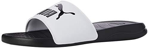 Puma Unisex-Erwachsene Popcat 20 Dusch-& Badeschuhe, Schwarz Black White 09, 42 EU