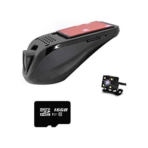 EEGUAI Vehicle Backup Cameras Car On-Dash Mounted Cameras 1080P FHD Car Video Recorder Dual Lens Carefully Designed Dashboard 16GB Card