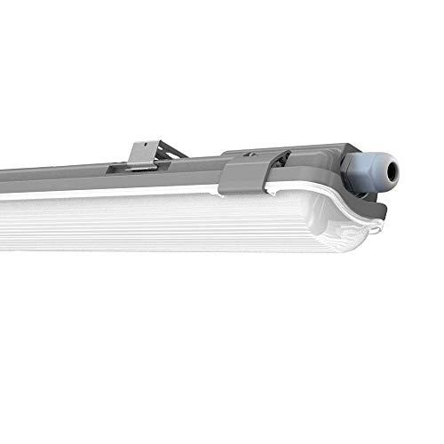 LED Feuchtraumleuchte Deckenleuchte 150cm 48W für Garage Keller Bad Werkstatt Feuchtraum Warenhaus   Tonffi LED Wannenleuchte Feuchtraumlampe Röhre   Wasserdicht IP65 Neutralweiß 4000K-4500K
