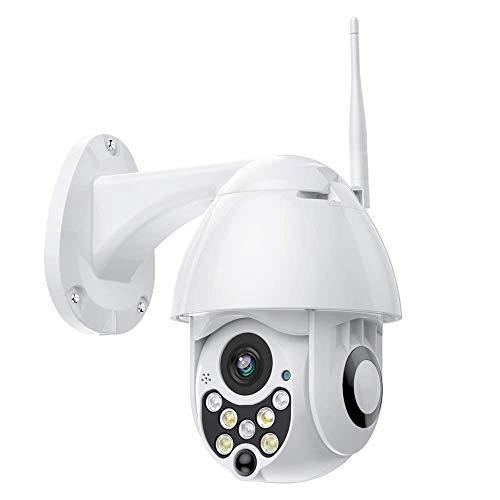 YAYY Outdoor Camera 1080P, PTZ Camera Exterieur WiFi Caméra SurveillanceAudio Bidirectionnel, Vision Nocturne Infrarouge, Détection de Mouvement, Étanche IP66, Notifications D'événements