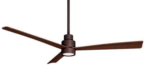 Minka Aire F787-ORB 52' 3-Blade Ceiling Fan in Oil Rubbed Bronze Finish with Medium Maple Blades