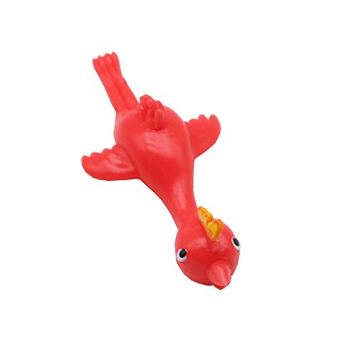 Janly Clearance Sale Education Toys, 1 Pcs Rubber Chicken Flick Flying Chicken Flingers Stretchy Gift Toy, Toys and Hobbies for Kid's Gift (A)