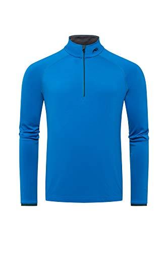 KJUS Men Feel Halfzip Blau, Herren T-Shirt, Größe 48 - Farbe Aruba Blue