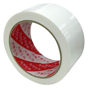 光洋化学 カットエース FW 白 中粘着 床養生テープ 50mm×25m 90巻