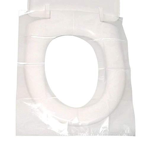 Einweg Toilettensitzabdeckung Einweg-WC-Sitzbezüge Reise-Kunststoff Wasserdichte Toilettenmatte 40 * 48cm / 15.7 '' * 18.9 '' (30pcs)