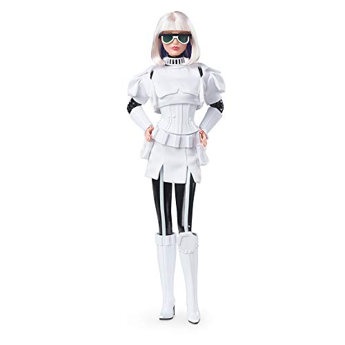 Barbie Collector Star Wars Stormtrooper x Doll (~12-inch) in Black and White Fashion and Accessories, with Doll Stand and Certificate of Authenticity, Multi (GLY29)