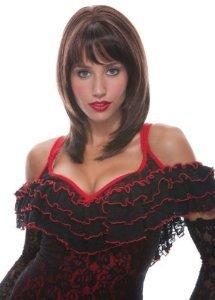 I LOVE FANCY DRESS LTD Jasmine- MID-LÄNGE BRAUNE PERÜCKE French KISS